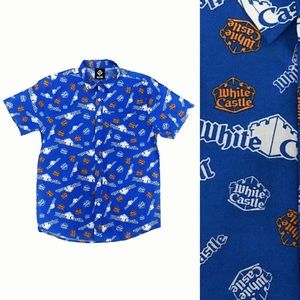 White Castle Burger Fast Food Button Down Shirt